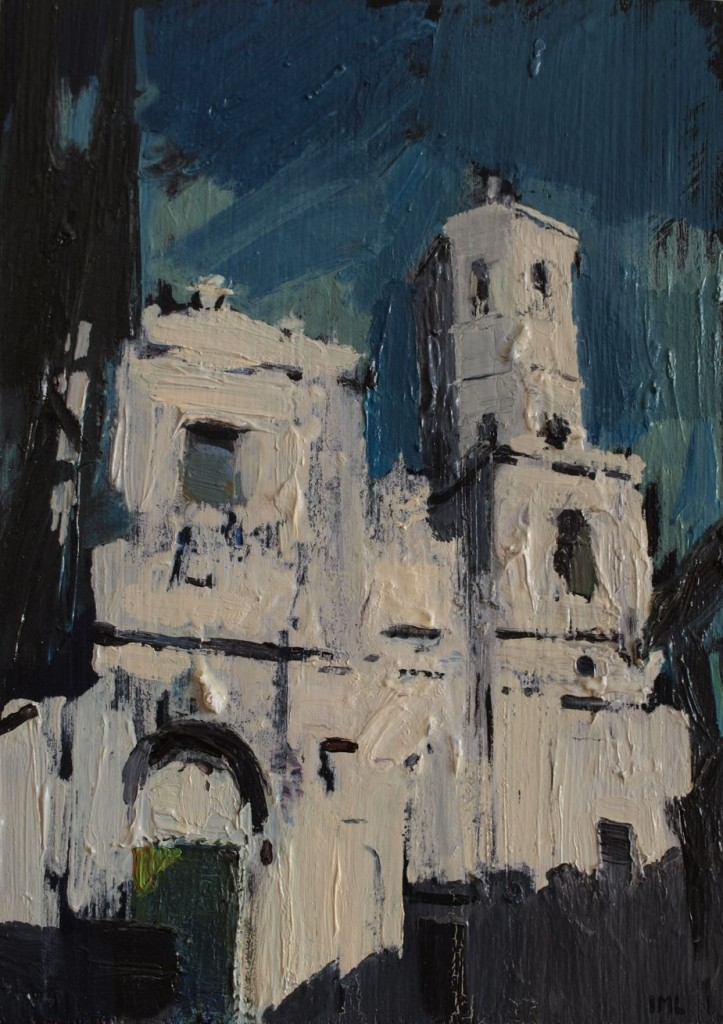 Catedral. Técnica mixta sobre tabla. 16 x 22,5 cm